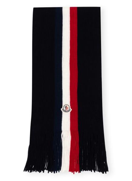 MONCLER Schal , Farbe: DUNKELBLAU/ WEISS/ DUNKELROT (Bild 1)