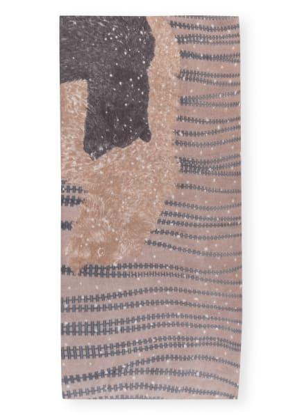HEMISPHERE Cashmere-Schal BAMILY, Farbe: TAUPE/ HELLGRAU/ WEISS (Bild 1)