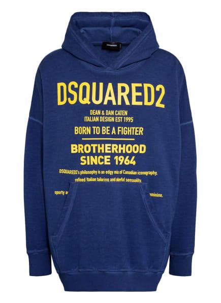 DSQUARED2 Oversized-Hoodie, Farbe: BLAU/ GELB (Bild 1)