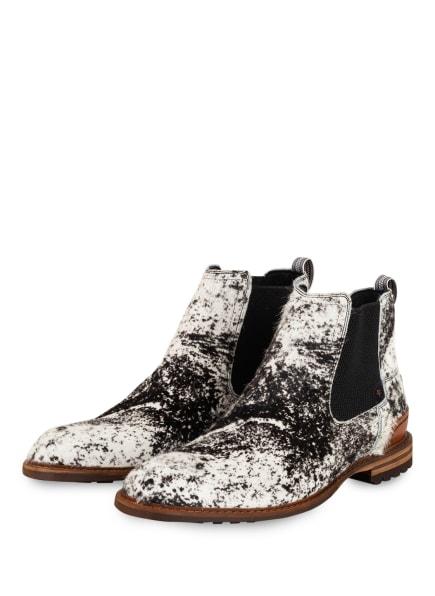 Floris van Bommel Chelsea-Boots, Farbe: WEISS/ SCHWARZ (Bild 1)