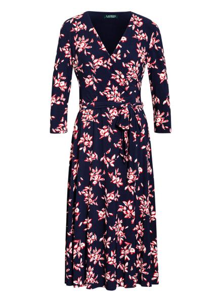 LAUREN RALPH LAUREN Kleid mit 3/4-Arm, Farbe: DUNKELBLAU/ WEISS/ ROT (Bild 1)