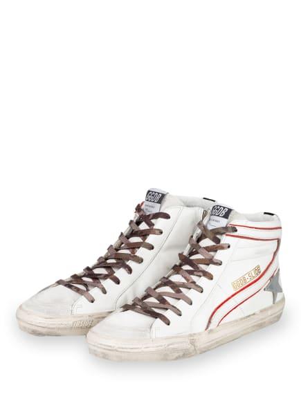 GOLDEN GOOSE DELUXE BRAND Hightop-Sneaker SLIDE, Farbe: WEISS/ ROT/ SILBER (Bild 1)