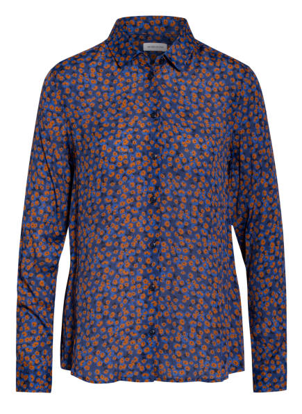 seidensticker Hemdbluse, Farbe: BLAU/ CAMEL (Bild 1)