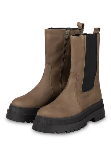 Mrs & HUGS Plateau-Boots, Farbe: OLIV (Bild 1)