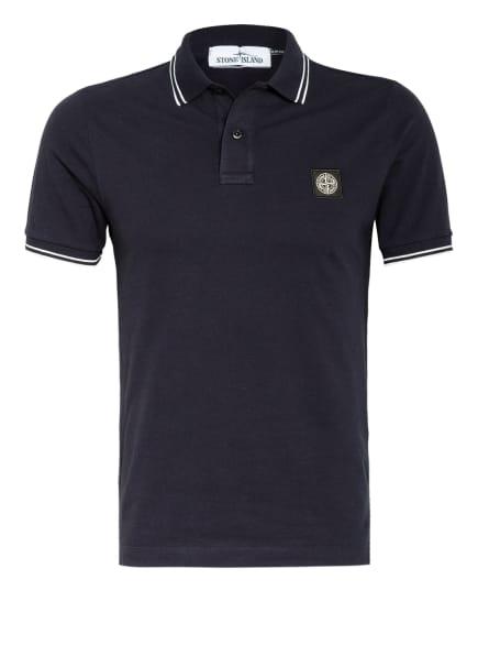 STONE ISLAND Piqué-Poloshirt Slim Fit , Farbe: DUNKELBLAU (Bild 1)
