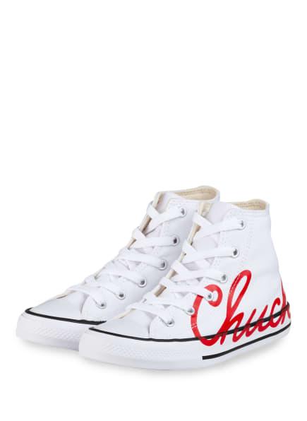 CONVERSE Hightop-Sneaker CHUCK TAYLOR ALL STAR, Farbe: WEISS/ ROT (Bild 1)