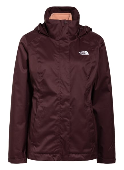 THE NORTH FACE 2-in-1-Jacke EVOLVE II TRICLIMATE, Farbe: DUNKELROT (Bild 1)
