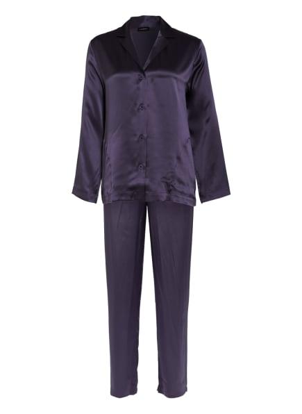 LA PERLA Schlafanzug SILK aus Seide, Farbe: DUNKELLILA (Bild 1)