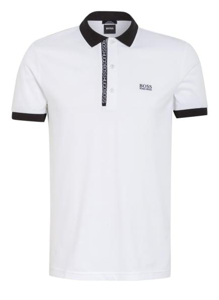 BOSS Piqué-Poloshirt PAULE Slim Fit, Farbe: WEISS/ SCHWARZ (Bild 1)