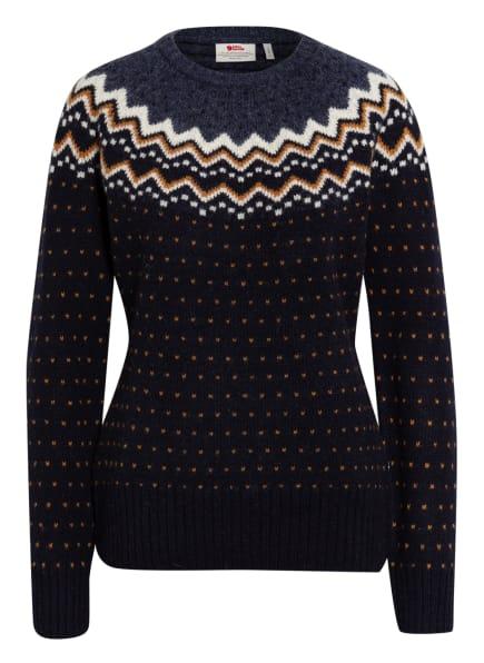 FJÄLLRÄVEN Pullover ÖVIK, Farbe: DUNKELBLAU/ DUNKELGELB/ WEISS (Bild 1)