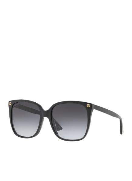 GUCCI Sonnenbrille GC000976, Farbe: 1100L - SCHWARZ/ GRAU VERLAUF (Bild 1)