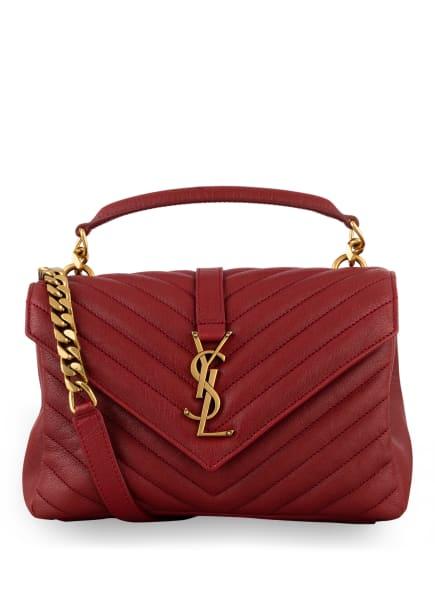SAINT LAURENT Handtasche COLLEGE MEDIUM, Farbe: DUNKELROT (Bild 1)