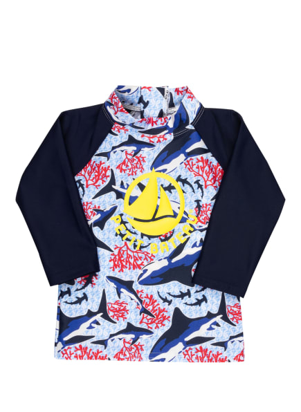 PETIT BATEAU UV-Shirt mit UV-Schutz 50+, Farbe: DUNKELBLAU/ HELLBLAU/ ORANGE (Bild 1)