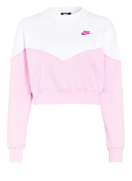 Nike Sweatshirt SPORTSWEAR HERITAGE, Farbe: WEISS/ ROSA (Bild 1)