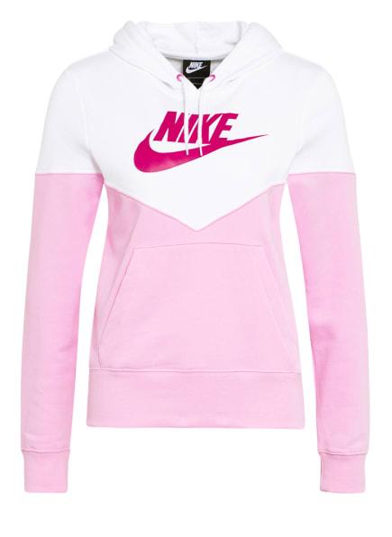 Nike Hoodie HERITAGE, Farbe: ROSA/ WEISS (Bild 1)