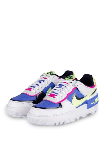 Nike Plateau-Sneaker AIR FORCE 1 SHADOW, Farbe: WEISS/ DUNKELBLAU/ BLAU (Bild 1)