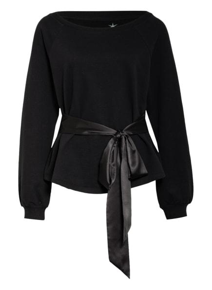 Juvia Sweatshirt mit Bindegürtel, Farbe: 110 BLACK (Bild 1)
