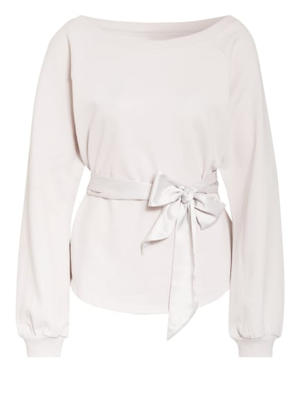Juvia Sweatshirt mit Bindegürtel, Farbe: WEISS (Bild 1)