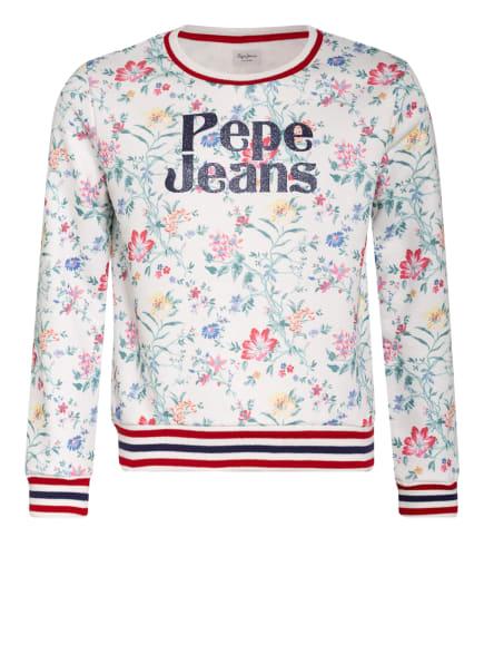 Pepe Jeans Sweatshirt , Farbe: WEISS/ GRÜN/ PINK (Bild 1)