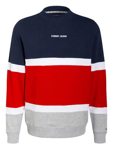 TOMMY JEANS Sweatshirt, Farbe: DUNKELBLAU/ ROT/ HELLGRAU (Bild 1)