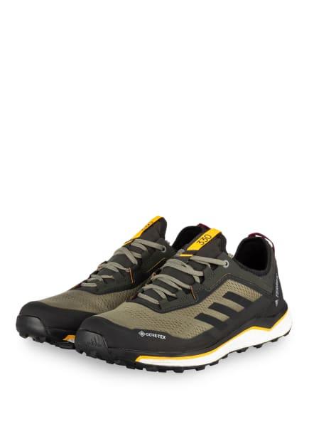 adidas Trailrunning-Schuhe TERREX AGRAVIC FLOW GTX, Farbe: OLIV/ SCHWARZ (Bild 1)