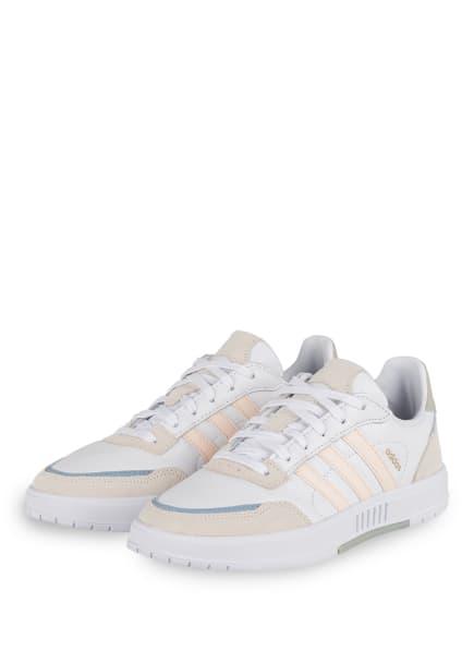adidas Sneaker COURTMASTER, Farbe: WEISS/ HELLORANGE/ HELLBLAU (Bild 1)