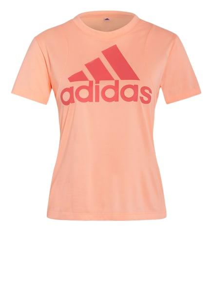 adidas T-Shirt BADGE OF SPORTS, Farbe: NEONORANGE/ ALTROSA (Bild 1)