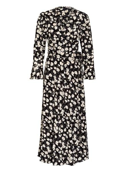 POLO RALPH LAUREN Wickelkleid mit 3/4-Arm, Farbe: SCHWARZ/ WEISS (Bild 1)