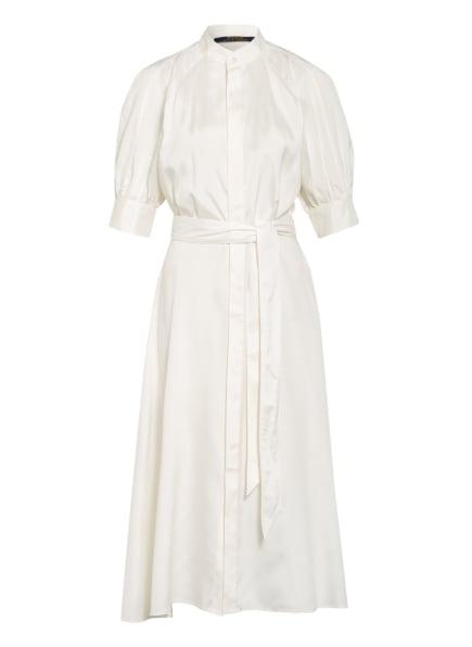 POLO RALPH LAUREN Hemdblusenkleid aus Seide, Farbe: WEISS (Bild 1)