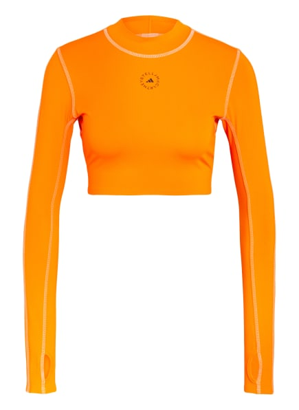 adidas by Stella McCartney Cropped-Shirt TRUEPACE, Farbe: NEONORANGE (Bild 1)