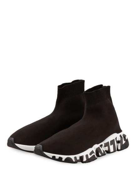 BALENCIAGA Hightop-Sneaker SPEED GRAFITTI, Farbe: SCHWARZ (Bild 1)