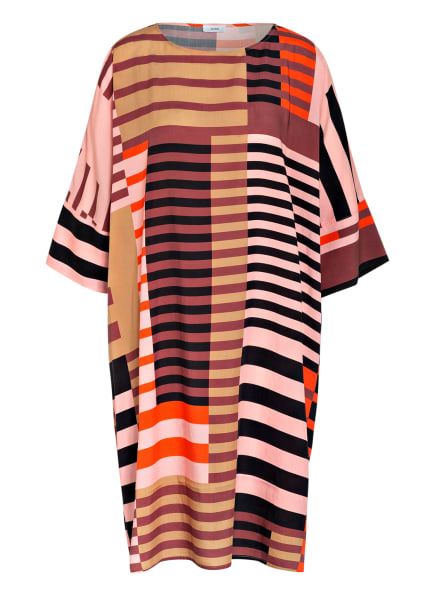 CLOSED Oversized-Kleid ELAINE mit 3/4-Arm, Farbe: ROSÉ/ DUNKELORANGE/ BRAUN (Bild 1)