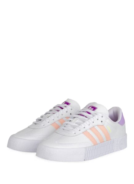 adidas Originals Sneaker SAMBAROSE, Farbe: WEISS/ NUDE/ HELLLILA (Bild 1)