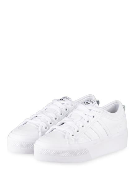 adidas Originals Plateau-Sneaker NIZZA, Farbe: WEISS (Bild 1)