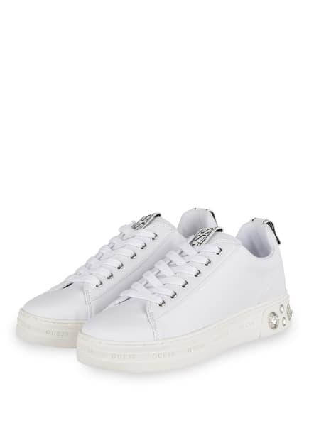 GUESS Sneaker RIVET, Farbe: WEISS (Bild 1)