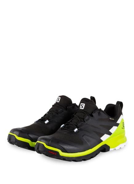SALOMON Trailrunning-Schuhe XA ROGG GTX, Farbe: SCHWARZ/ NEONGRÜN/ WEISS (Bild 1)