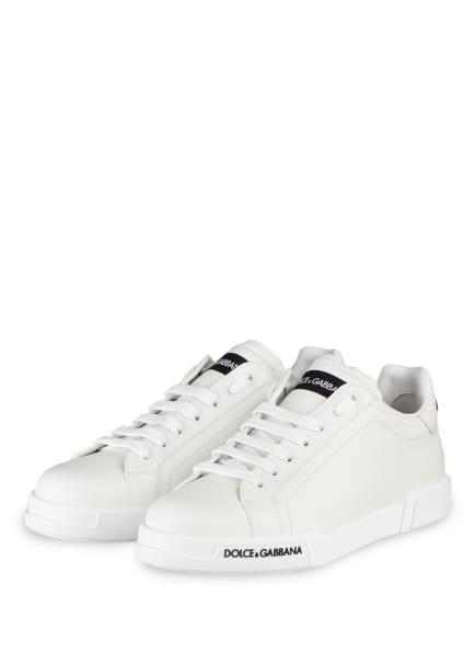 DOLCE&GABBANA Sneaker PORTOFINO, Farbe: WEISS (Bild 1)