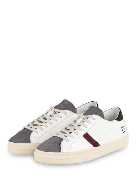 D.A.T.E. Sneaker HILL LOW STONE, Farbe: WEISS/ DUNKELGRAU/ DUNKELROT (Bild 1)