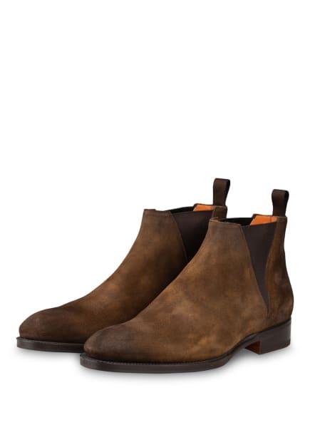 Santoni Chelsea-Boots, Farbe: HELLBRAUN (Bild 1)