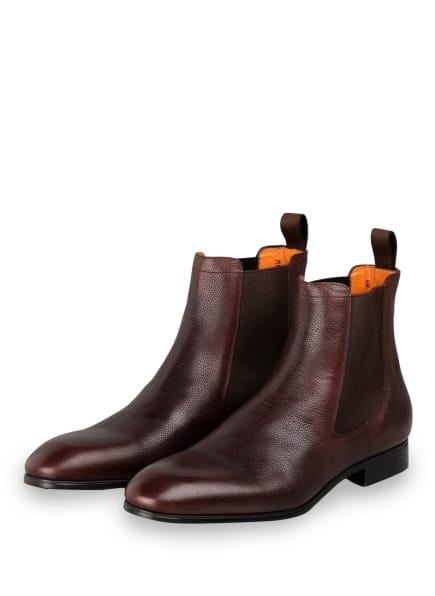 Santoni Chelsea-Boots SIMON, Farbe: DUNKELBRAUN (Bild 1)