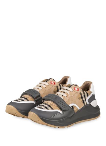 BURBERRY Plateau-Sneaker LOW RAMSEY, Farbe: GRAU/ BEIGE (Bild 1)