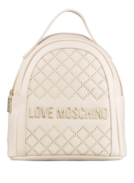 LOVE MOSCHINO Rucksack mit Nietenbesatz, Farbe: ECRU (Bild 1)