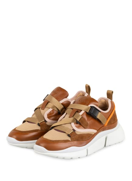 Chloé Sneaker SONNIE, Farbe: AUTUMNAL BROWN (Bild 1)