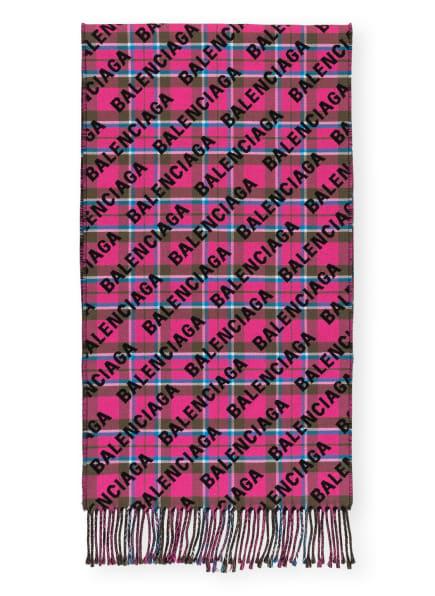 BALENCIAGA Schal, Farbe: PINK/ SCHWARZ (Bild 1)