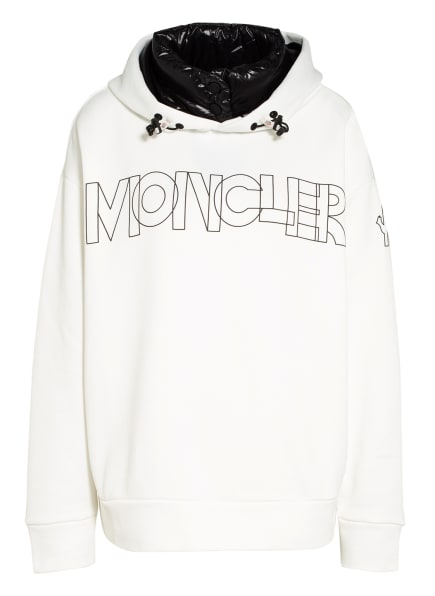 MONCLER GRENOBLE Oversized-Hoodie, Farbe: WEISS/ SCHWARZ (Bild 1)