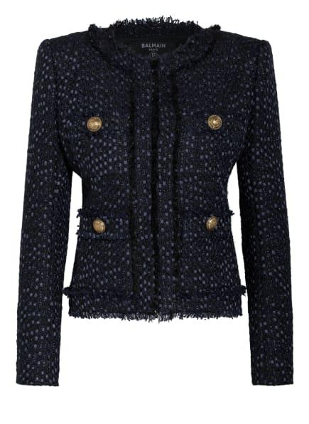 BALMAIN Tweed-Jacke, Farbe: DUNKELBLAU/ BLAU/ SCHWARZ (Bild 1)