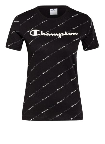 Champion T-Shirt , Farbe: SCHWARZ/ WEISS/ DUNKELGRAU (Bild 1)