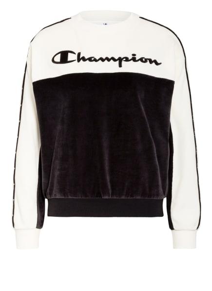 Champion Sweatshirt aus Nicki, Farbe: ECRU/ SCHWARZ (Bild 1)