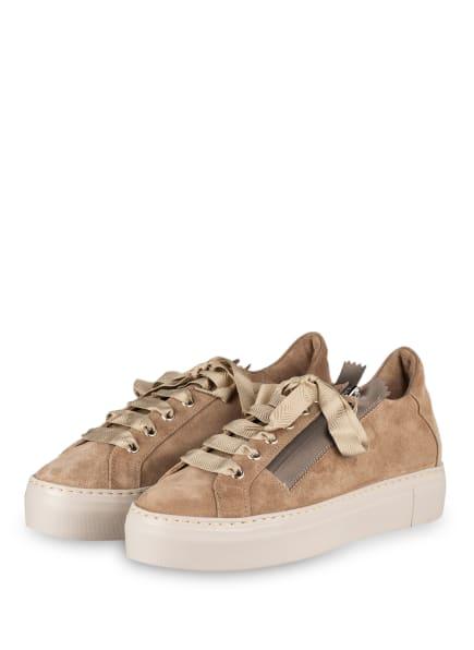 AGL ATTILIO GIUSTI LEOMBRUNI Plateau-Sneaker, Farbe: TAUPE (Bild 1)