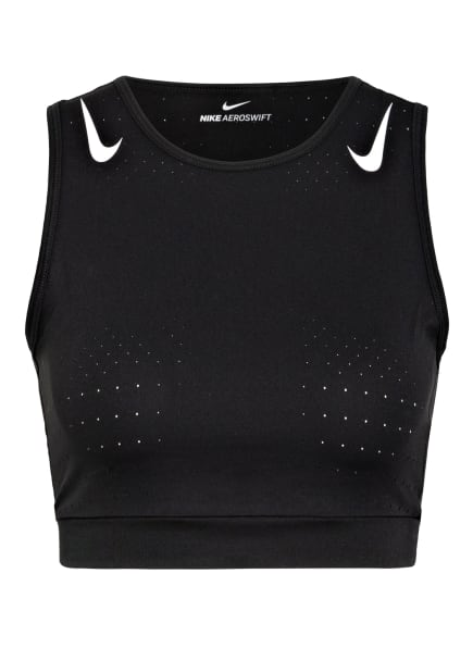 Nike Laufshirt AEROSWIFT, Farbe: SCHWARZ/ WEISS (Bild 1)